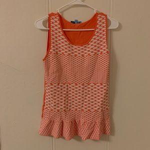 Antonio Melani Orange Printed Blouse Size Small